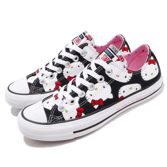 6c8e07528f86 New HELLO KITTY X CHUCK TAYLOR ALL STAR OX